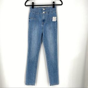 NEW Free People We the Free High Waist Jeans Blue
